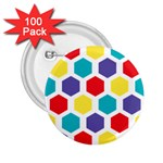 Hexagon Pattern  2.25  Buttons (100 pack)  Front