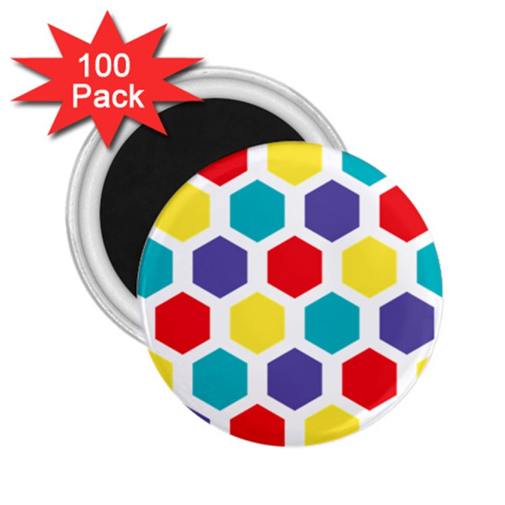 Hexagon Pattern  2.25  Magnets (100 pack)