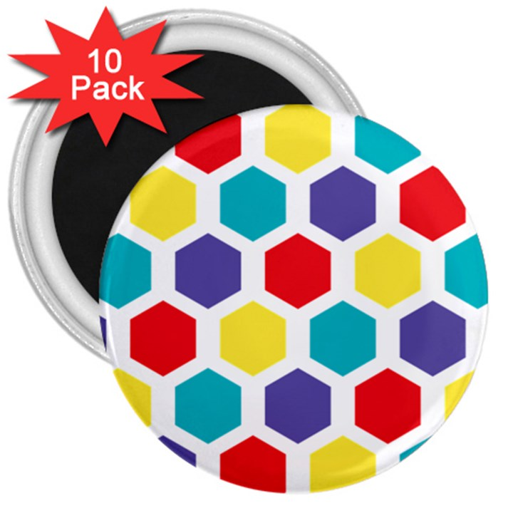Hexagon Pattern  3  Magnets (10 pack)