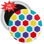 Hexagon Pattern  3  Magnets (100 pack) Front
