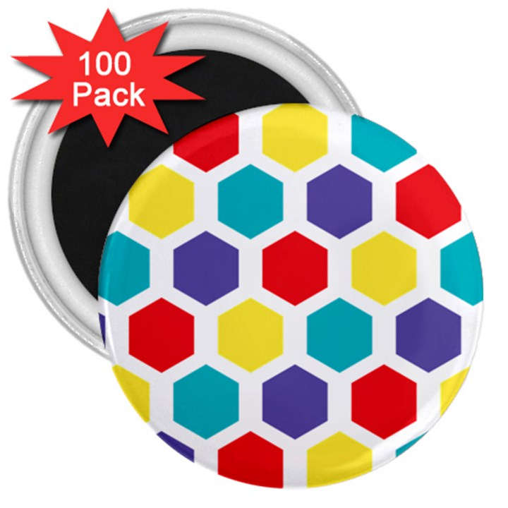 Hexagon Pattern  3  Magnets (100 pack)