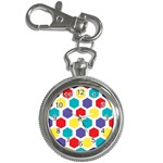 Hexagon Pattern  Key Chain Watches Front