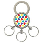 Hexagon Pattern  3-Ring Key Chains Front