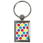 Hexagon Pattern  Key Chains (Rectangle)  Front