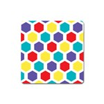 Hexagon Pattern  Square Magnet Front