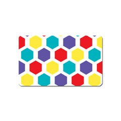 Hexagon Pattern  Magnet (Name Card)