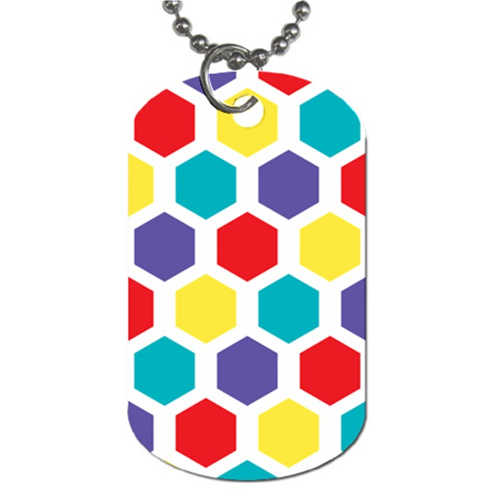 Hexagon Pattern  Dog Tag (One Side)