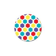 Hexagon Pattern  Golf Ball Marker (4 pack)