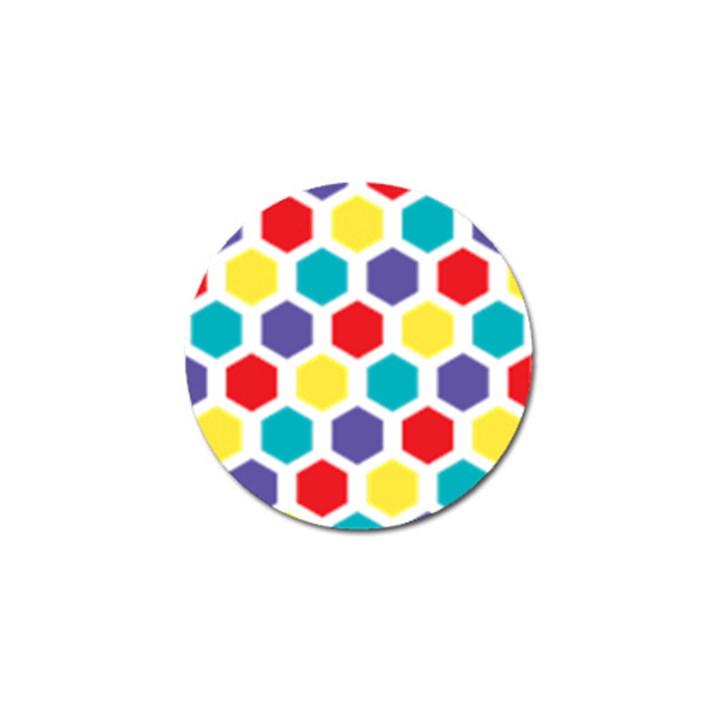 Hexagon Pattern  Golf Ball Marker (10 pack)