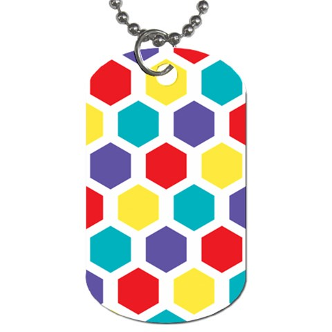 Hexagon Pattern  Dog Tag (Two Sides)
