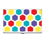 Hexagon Pattern  Business Card Holders Front