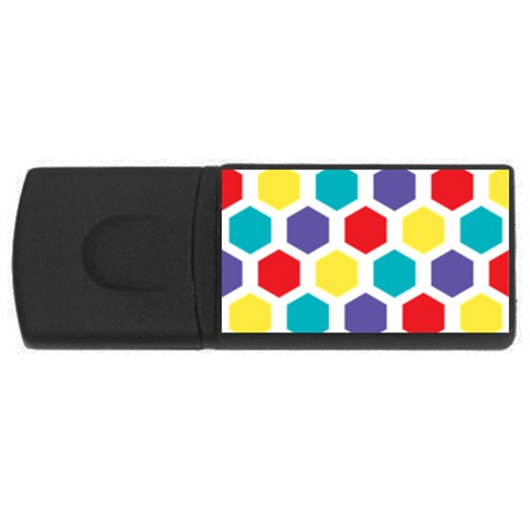 Hexagon Pattern  USB Flash Drive Rectangular (1 GB)