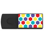Hexagon Pattern  USB Flash Drive Rectangular (1 GB)  Front