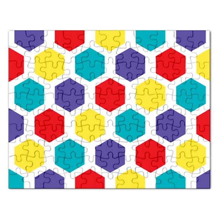Hexagon Pattern  Rectangular Jigsaw Puzzl