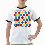 Hexagon Pattern  Ringer T-Shirts Front