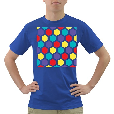 Hexagon Pattern  Dark T-Shirt