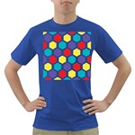 Hexagon Pattern  Dark T-Shirt Front