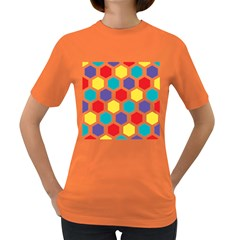Hexagon Pattern  Women s Dark T-Shirt