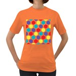 Hexagon Pattern  Women s Dark T-Shirt Front