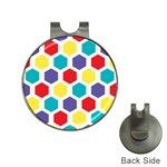Hexagon Pattern  Hat Clips with Golf Markers Front
