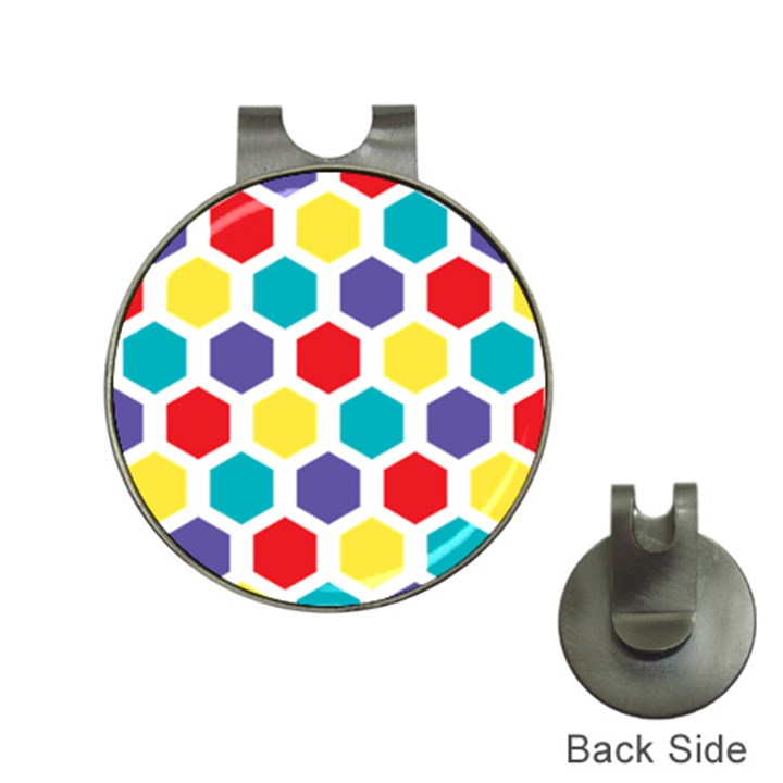Hexagon Pattern  Hat Clips with Golf Markers