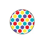 Hexagon Pattern  Hat Clip Ball Marker Front
