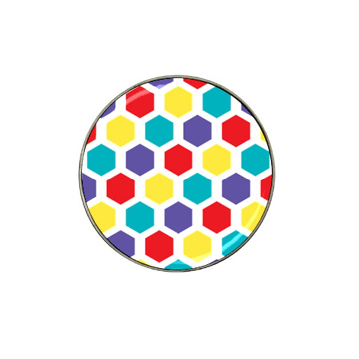 Hexagon Pattern  Hat Clip Ball Marker