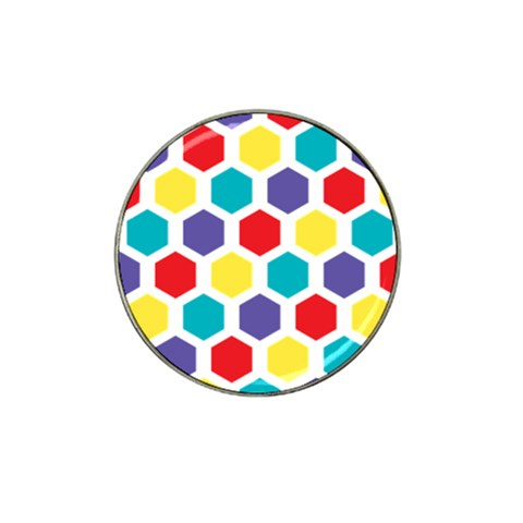 Hexagon Pattern  Hat Clip Ball Marker (4 pack)