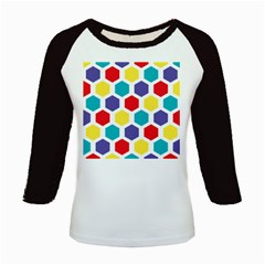 Hexagon Pattern  Kids Baseball Jerseys