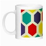 Hexagon Pattern  Night Luminous Mugs Left