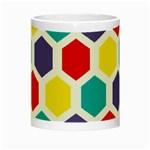 Hexagon Pattern  Night Luminous Mugs Center