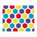 Hexagon Pattern  Small Glasses Cloth Front