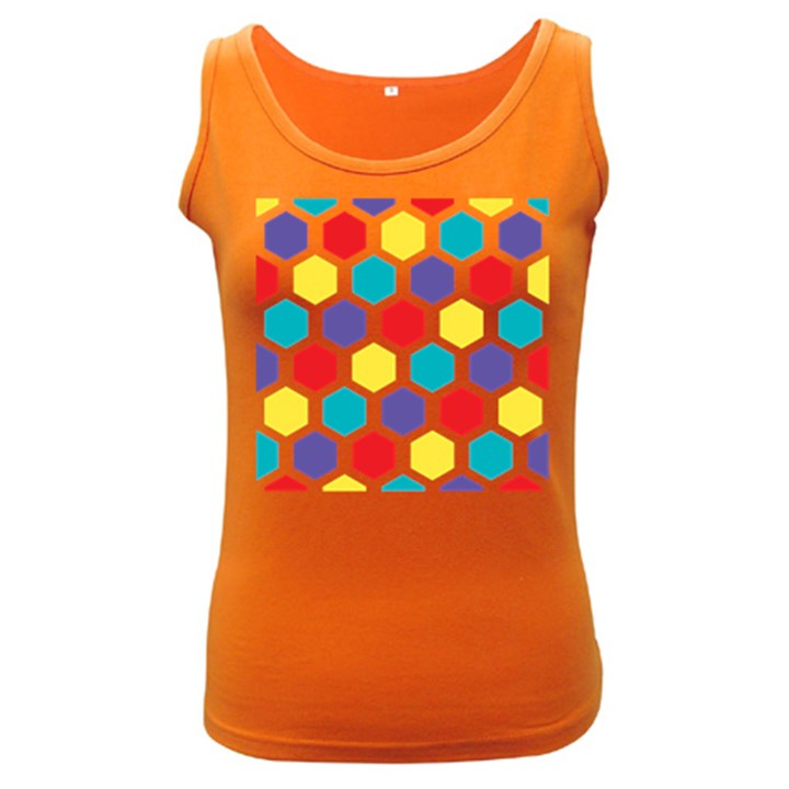 Hexagon Pattern  Women s Dark Tank Top