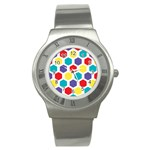 Hexagon Pattern  Stainless Steel Watch Front