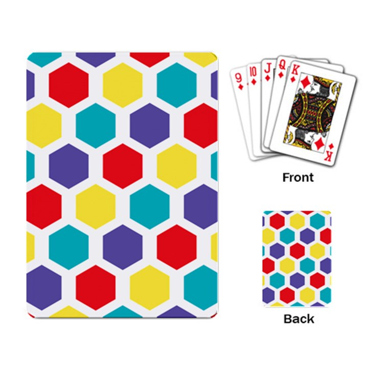 Hexagon Pattern  Playing Card