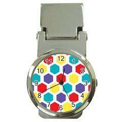 Hexagon Pattern  Money Clip Watches