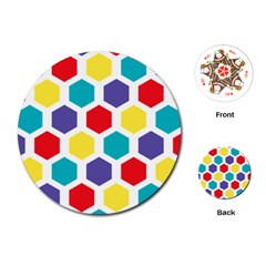 Hexagon Pattern  Playing Cards (Round)