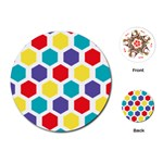 Hexagon Pattern  Playing Cards (Round)  Front
