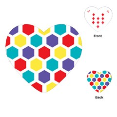 Hexagon Pattern  Playing Cards (Heart)