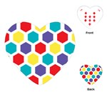 Hexagon Pattern  Playing Cards (Heart)  Front