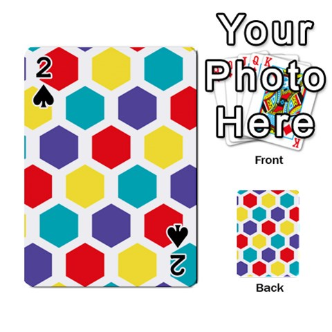 Hexagon Pattern  Playing Cards 54 Designs
