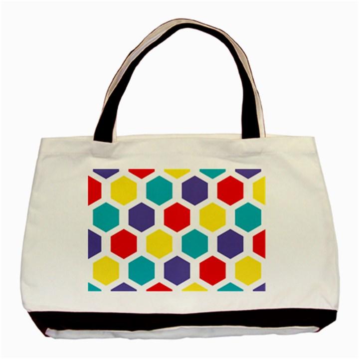 Hexagon Pattern  Basic Tote Bag