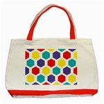 Hexagon Pattern  Classic Tote Bag (Red) Front