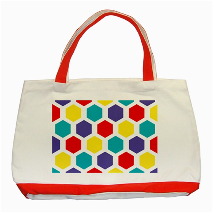 Hexagon Pattern  Classic Tote Bag (Red)