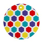 Hexagon Pattern  Round Ornament (Two Sides)  Back