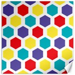 Hexagon Pattern  Canvas 12  x 12   12 x12 Canvas - 1