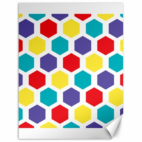 Hexagon Pattern  Canvas 18  x 24