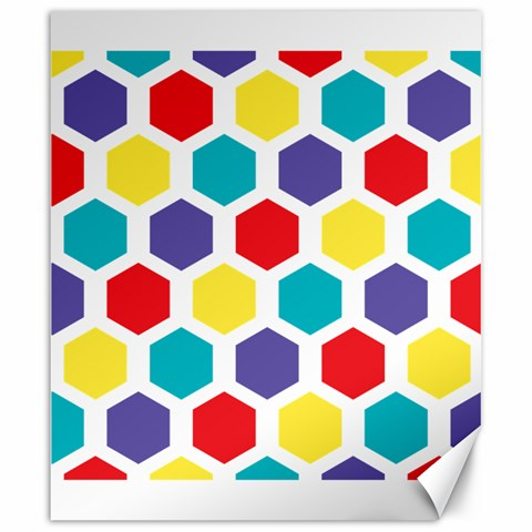 Hexagon Pattern  Canvas 20  x 24