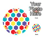 Hexagon Pattern  Playing Cards 54 (Round)  Front - Heart10