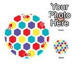 Hexagon Pattern  Playing Cards 54 (Round)  Front - HeartQ